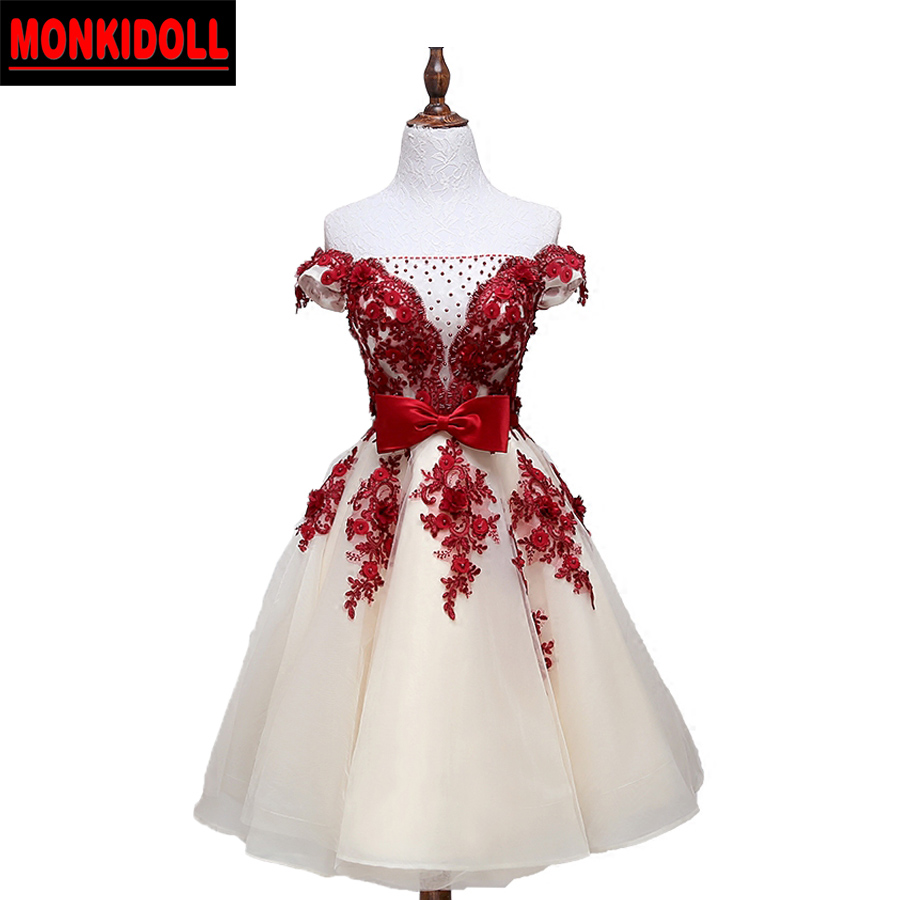726e02443cf90 Elegant Lace Homecoming Dresses 2019 Beading Bow Applique Corset 8th ...