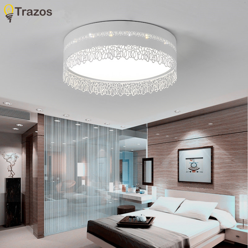 2017 modern LED Ceiling Lights Die-casting pattern Living Room ceiling lights bedroom Decorative lampshade Lamparas de techo noosion modern led ceiling lamp for bedroom room black and white color with crystal plafon techo iluminacion lustre de plafond