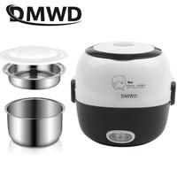 DMWD ミニ炊飯器、熱暖房電気ランチボックス 2 層ポータブル食品汽船調理容器食事弁当ウォーマー -