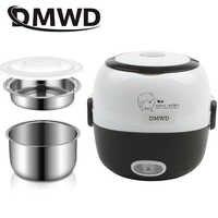 DMWD MINI cuiseur à riz chauffage thermique boîte à déjeuner électrique 2 couches Portable alimentaire vapeur cuisson conteneur repas boîte à déjeuner plus chaud