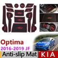 Противоскользящие резиновые коврики  слот для ворот  коврик для KIA Optima 2016 2017 2018 2019 JF 4th Gen mk4 KIA K5 SW  аксессуары  наклейки  коврики без чашки