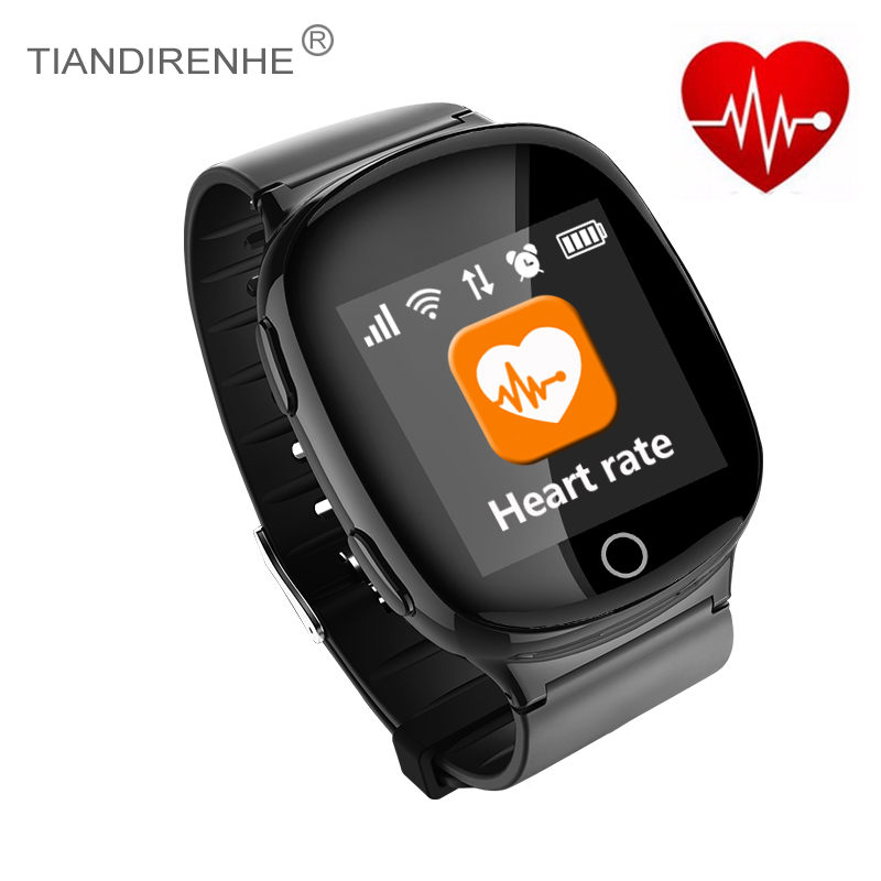 Fitness Tracker Smart Watch GPS+LBS+WIFI Heart Rate Tracker wearable devices SOS Wristwatch Fall-down Alarm Old People Gift english smart watch d100 elderly heart rate monitor fall down alarm function gps lbs wifi tracker montre connecter android f36