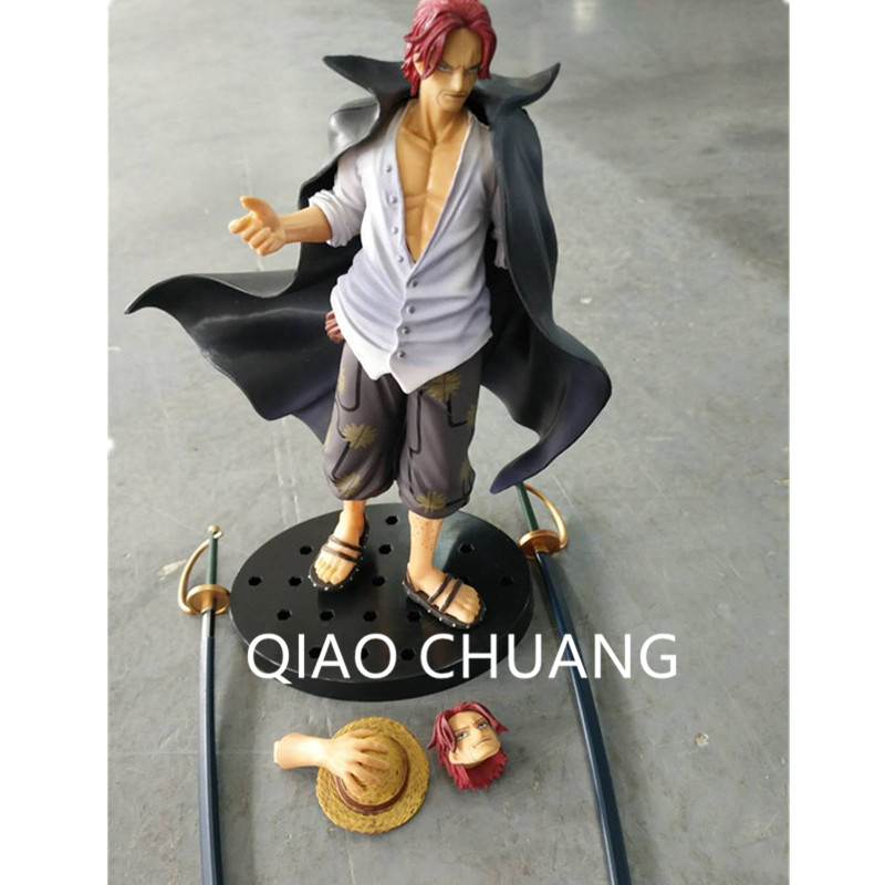 18CM Anime ONE PIECE One Of The Four Emperor Red Hair Shanks Sabre Sabre Modelling Of The King PVC Action Figure Model Toy G487