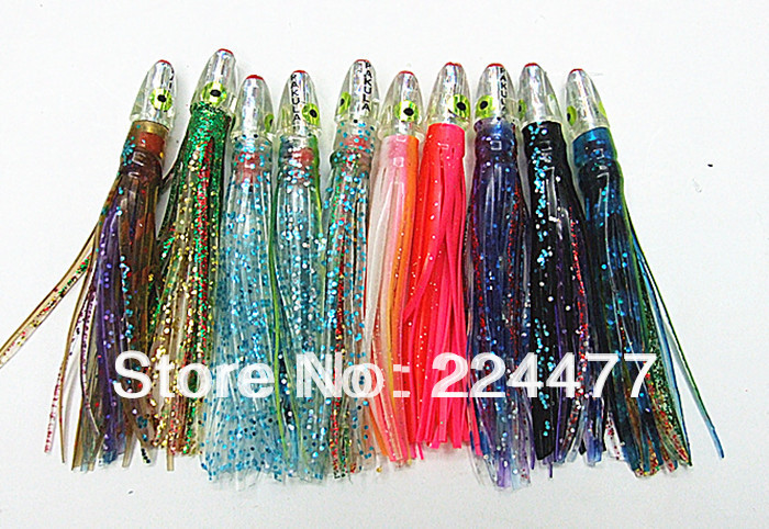4 inch 6 5g mixed color octopus skirt bait fishing lures fishing tackle sea trolling lures
