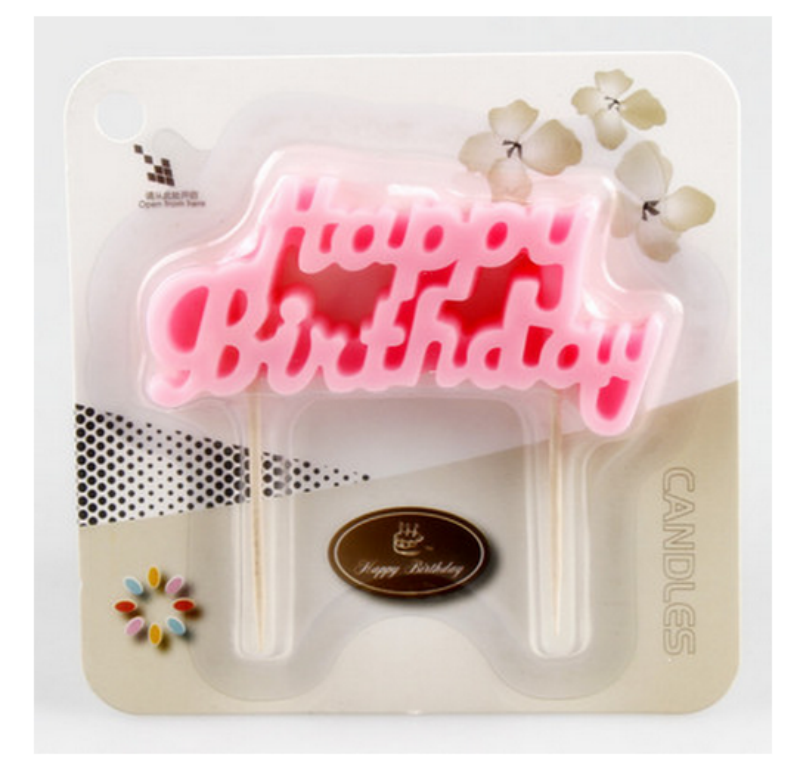 sets rosaazul del feliz cumpleaos vela velas de la torta decoracin fiesta de
