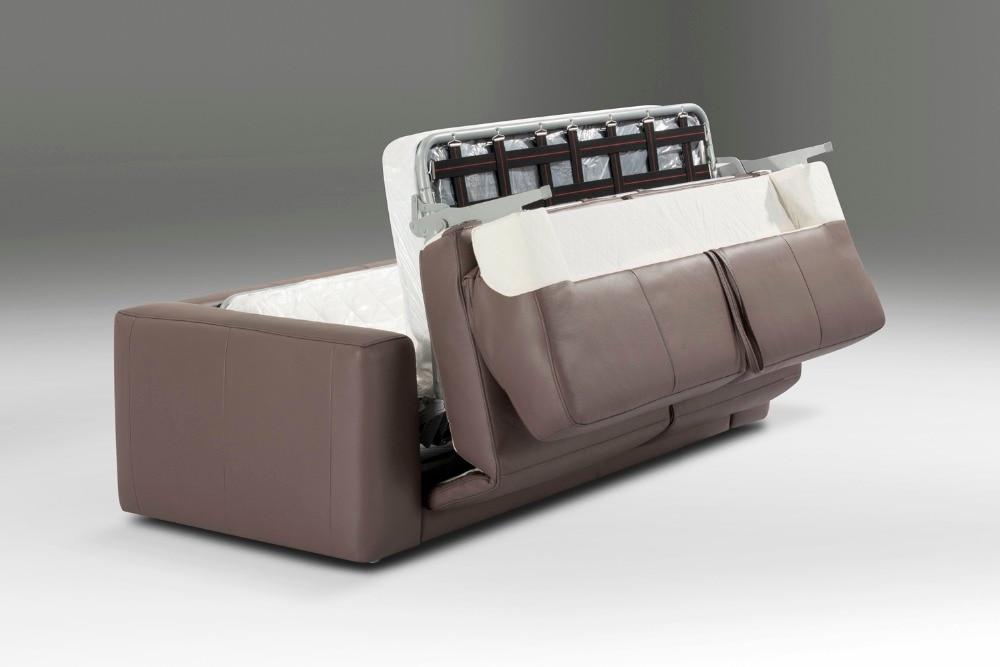 Echtes Leder Sofa Bett Wohnzimmer Couch Schlafsofa Und Matratze Moderne Kreative Multifunktionsklappschreibtischlampen