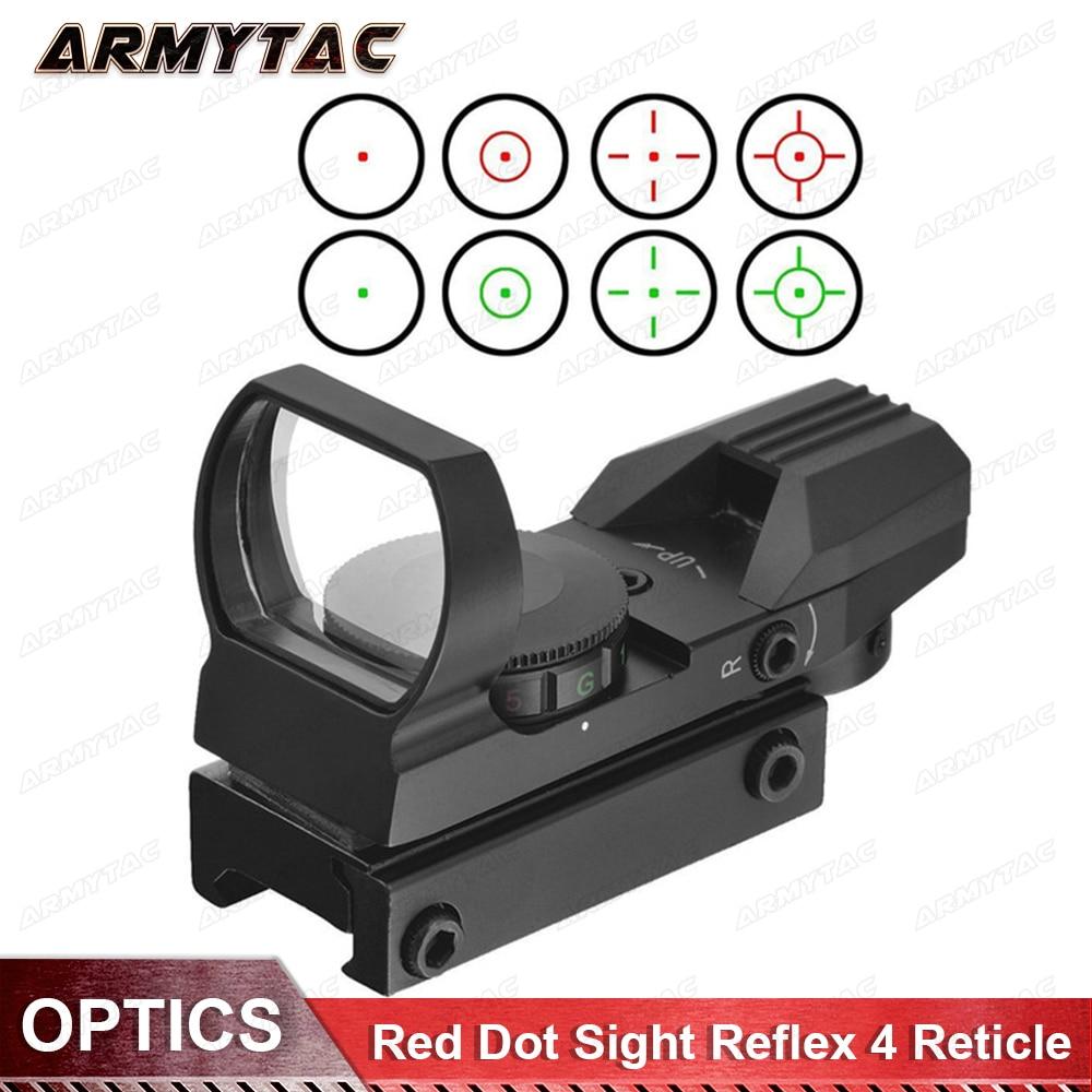 Hunting Red Dot Sight Scopes Tactical Optics 20mm Rail Sniper Pistol Airsoft Air Guns Reflex Rifle Scopes Holographic Sights