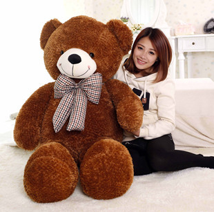 larggest size 160cm bowtie teddy bear plush toy soft hugging pillow Valentines Day present , surprised birthday gift w5461larggest size 160cm bowtie teddy bear plush toy soft hugging pillow Valentines Day present , surprised birthday gift w5461