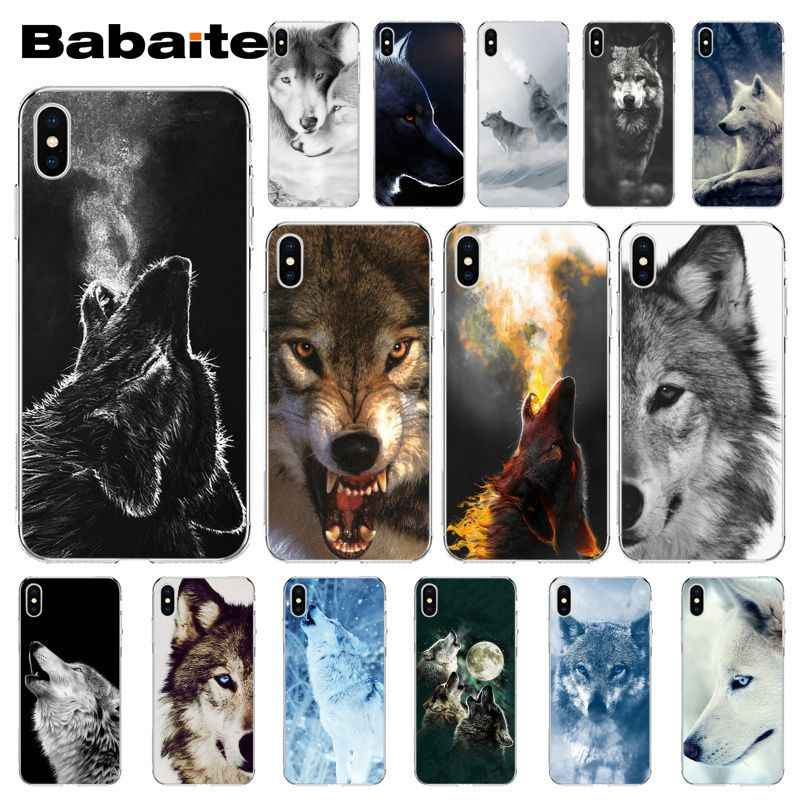 Babaite irritado snow wolf TPU Macio Silicone Case Capa Do Telefone para o iPhone Da Apple 8 7 6 6S Plus X XS MAX 5 5S SE XR Tampa