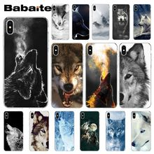 Babaite angry snow wolf TPU Soft Silicone Phone Case Cover for Apple iPhone 8 7 6 6S Plus X XS MAX 5 5S SE XR Cover babaite van gogh tardis tpu soft silicone phone case cover for apple iphone 8 7 6 6s plus x xs max 5 5s se xr mobile cover