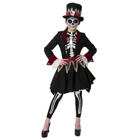 Halloween Scary Girls Voodoo Witch Skeleton Costume Strong Magic Power Holiday Cosplay Dress Up