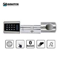 LANXSTAR Şifre Akıllı Kilit Silindir Ev Anahtarsız Elektronik Kilit Çekirdekli Bluetooth mobil uygulama Çok fonksiyonlu Akıllı