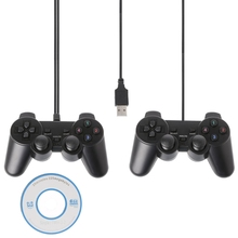 USB 2.0 Gamepad Gaming Joystick Wired Game Controller For PC Computer Laptop wired gamepad usb game controller gaming joypad joystick control for pc computer laptop gamer black game console