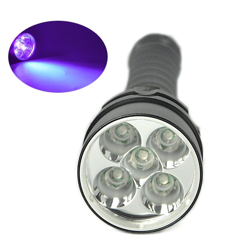 ФОТО 25W 390nm 8000Lumen 5X LED Double Chip Purple Light Underwater 100Meter Diving Diver Waterproof Flashlight  Torch + lanyard