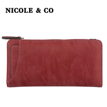 NICOLE & CONEW Women Wallets PU Leather Long Style Card Holder Money Purse Female Fashion Bag id
