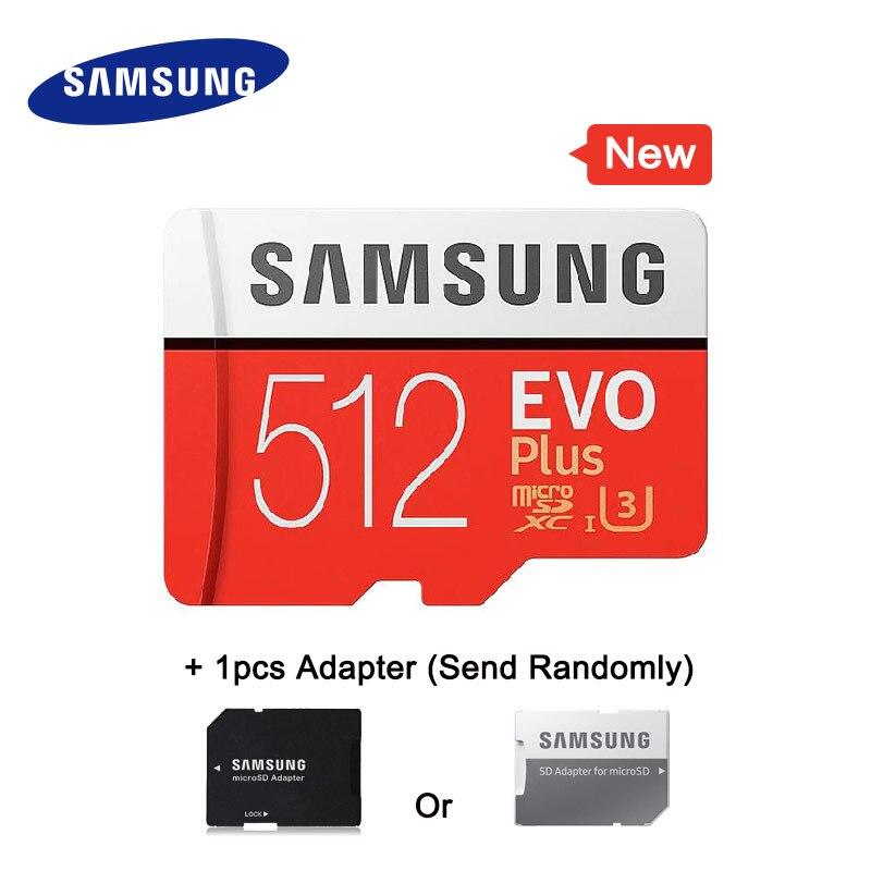 SAMSUNG Micro carte SD carte mémoire 512 GB EVO + EVO Plus Class10 TF carte C10 100 mo/s SDXC UHS-1 périphérique de stockage cartes de téléphone 2018 nouveau
