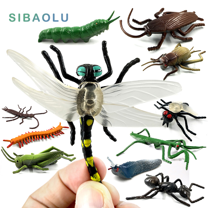 Simulation Animals models figurine Childrens Toys Gift Centipede Spider Beetle Insect Action Figures home decoration accessorie