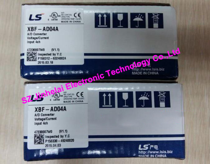 100% New and original XBF-AD04A LS(LG) PLC 4 channel analog input (voltage/current) 100% new and original xgf ad8a ls lg plc analog input module