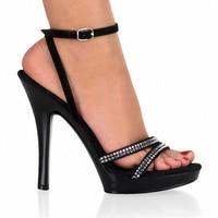 13cm Bohemia High Heels Sandals Tassel Platform Sandal With Rhinestone Straps 5 Inch Punk Open Toe
