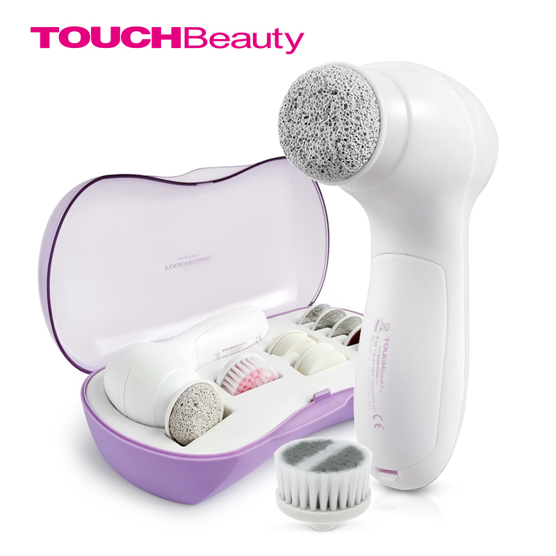 TOUCHBeauty foot rasp file calluses remove dry skin 10 in 1 pedicure tools & facial cleansing brush multifunction set TB-0601B touchbeauty 3 in1 rotating facial cleansing brush set with 3 replacement brush heads 2 speed settings with storage box tb 0759a