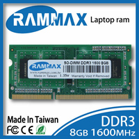 Brand Sealed Laptop DDR3 Ram Memory 1x8GB SO DIMM1600Mhz PC3 12800 204pin High Compatible Motherboard For