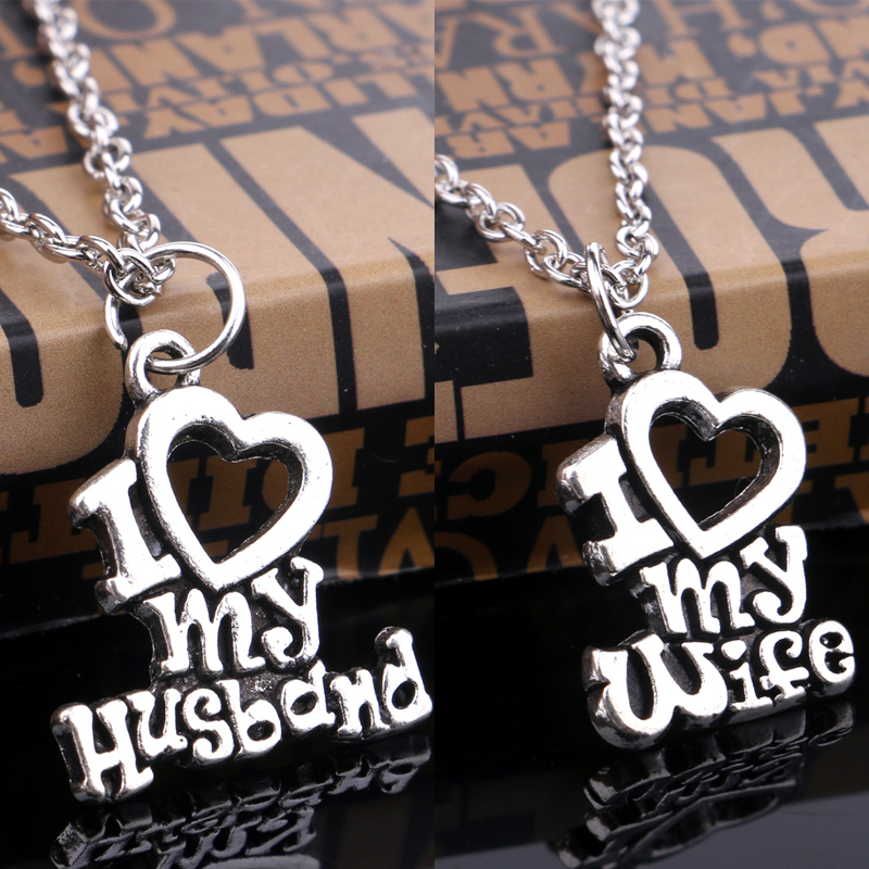 Top Gifts For Wife Part - 26: 2015 Christmas Gift I Love My Wife U0026 I Love My Husband Message Words Heart  Charm