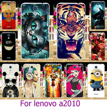 Soft TPU Hard Plastic Phone Case For Lenovo A2010 A2580 A2860 4.5 inch a 2010 Painted Case Cat Cover Shell Housing