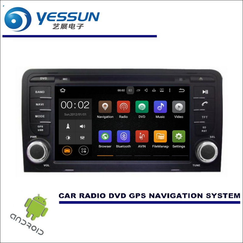 YESSUN For Audi A3 S3 RS3 2003~2013 - CD DVD GPS Player Navi Radio Stereo BT Car Multimedia Navigation Wince / Android System