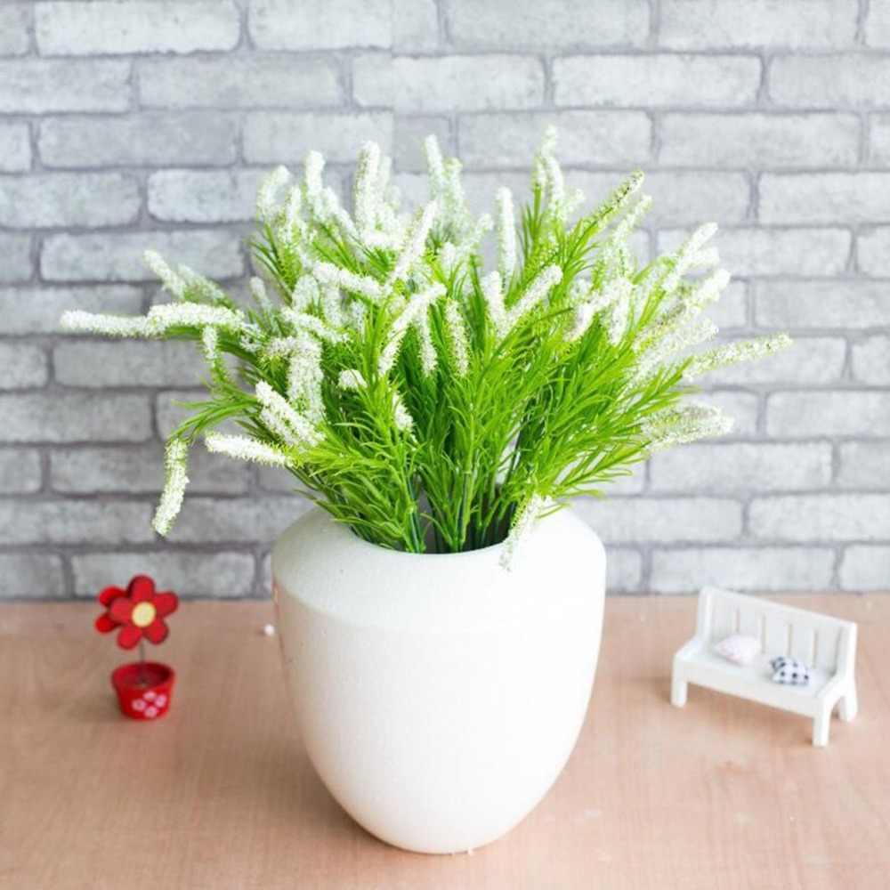 Postral Estilo Flores de Lavanda Flores Artificiais Em Vasos de Flores Bonsai Miniascape Bonsai para Decoração Da Parede ou de Mesa