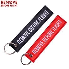 2 pçs remover antes do vôo chaveiros tecido vermelho motocicleta chaveiro etiqueta de bagagem especial etiqueta de corrente preta para presentes de aviação