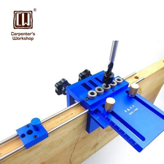 Высокая точность дюбеля джиг с 5 метрических дюбель отверстия (6 мм, 8 10 мм) Деревообработка столярные