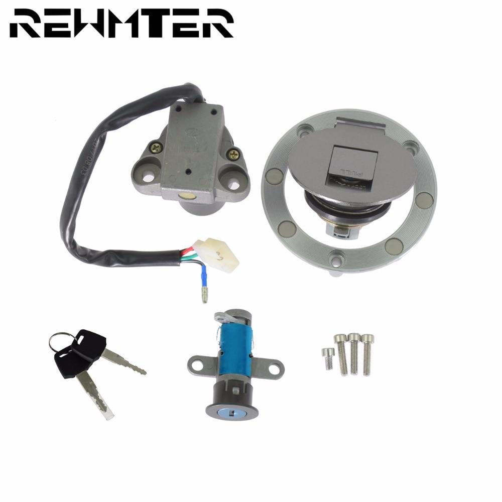 МОТОЦИКЛ Переключатель зажигания замок один набор 12 В 4 провода Алюминий для YAMAHA TZR125 TZM150 TZR150 TDM850