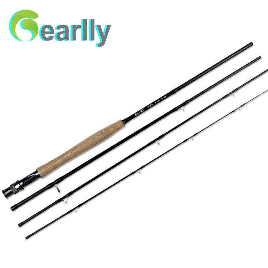 ФОТО 1pcs 2.43M Fly fishing rod carbon fishing rod travel fly rod pole fishing equipment trout fishing rod