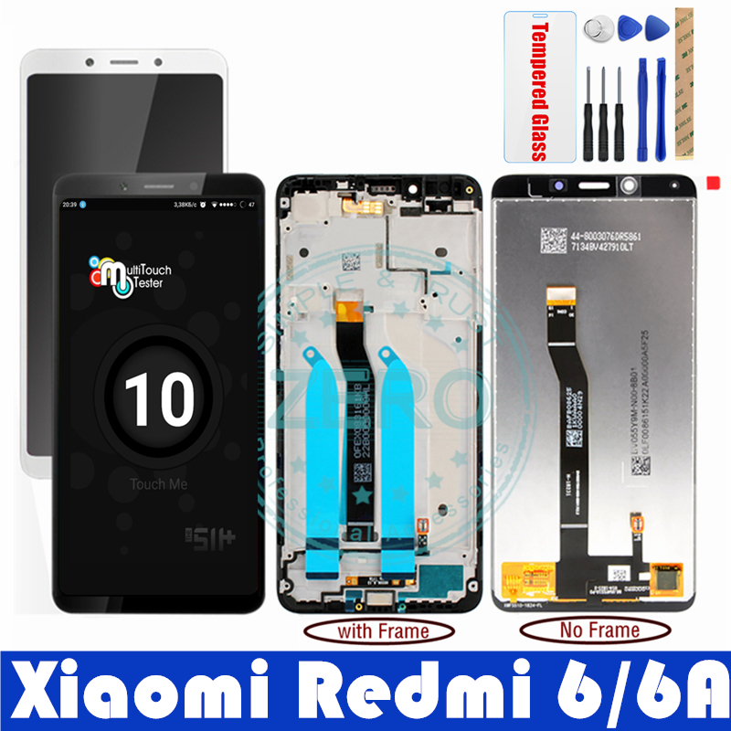 LCD Display With Frame Xiaomi Redmi 6 6A 10 Touch Panel Screen Xiaomi Redmi 6 6A LCD Digitizer Replacement Repair Spare Parts