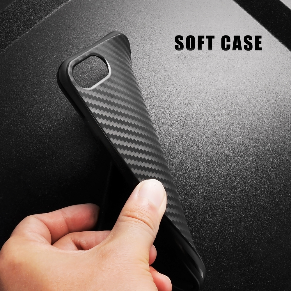 Phone Case For iPhone 6S Soft Silicone Vintage Black Tire Defender Carbon Fiber TPU Rubber Cover For iPhone 6 7 Plu