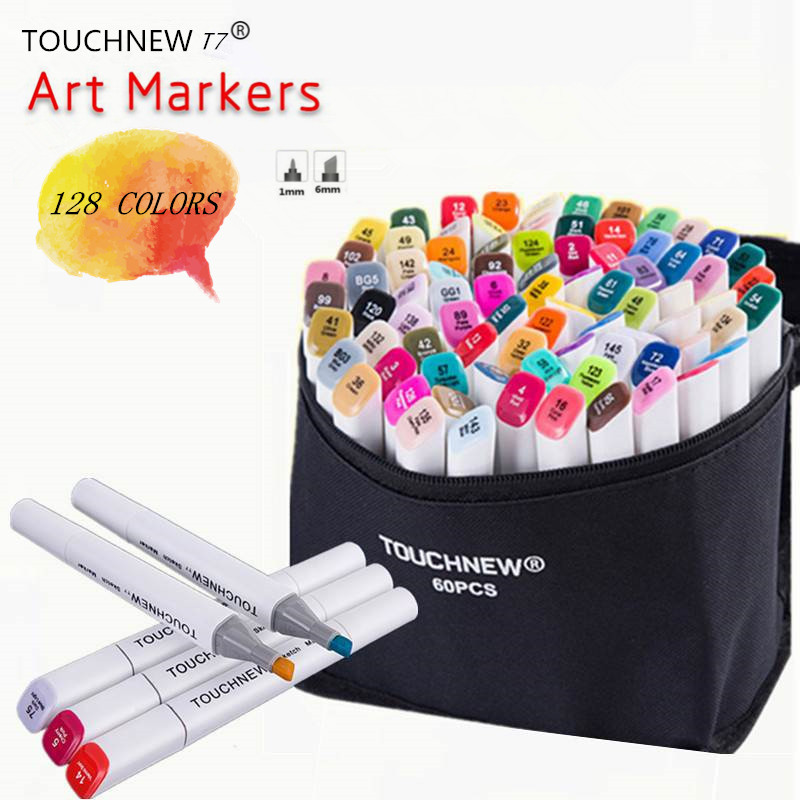 TOUCHNEW T7 Optional Colors Sketch Markers Alcohol Based Dual Head Brush Markers Pen For Drawing Manga Art Supplies Markers