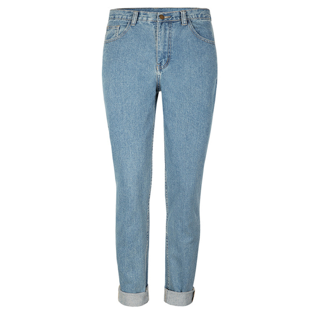 Cheap Price High Waist Jeans For Woman High Quality Wholesale American and European Style Loose Straight Womens Jeans Denim S699