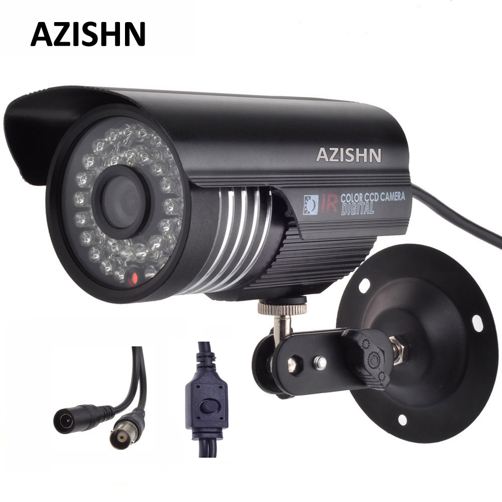 AZISHN Security 1/3 Sony Effio CCD 700TVL OSD menu 36PCS IR LEDS bullet IP66 outdoor waterproof CCTV camera with Bracket