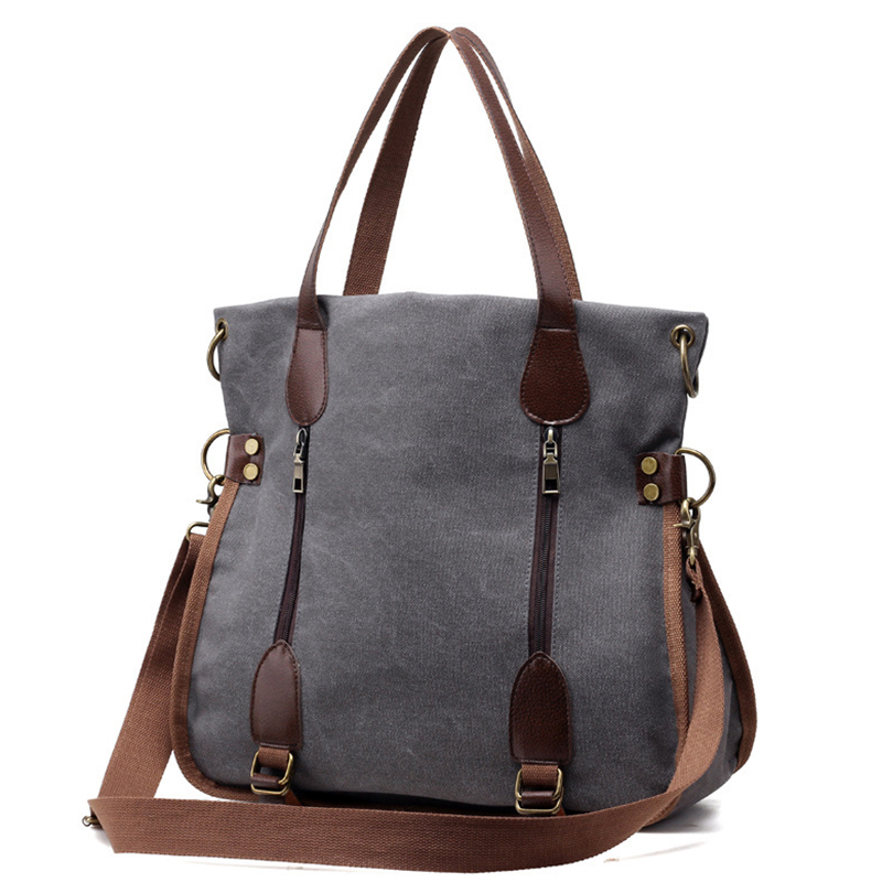 Large Captain Casual Totes Fashion <font><b>Big</b></font> <font><b>Women</b></font> <font><b>Bag</b></font> Canvas <font><b>Shoulder</b></font> Messenger <font><b>Bags</b></font> <font><b>for</b></font> <font><b>women</b></font> <font><b>2018</b></font> Handbags Sac A Main bolsos mujer image