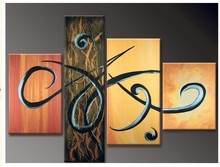 цены hand-painted oil wall art fly decoration Landscape Framed oil painting on