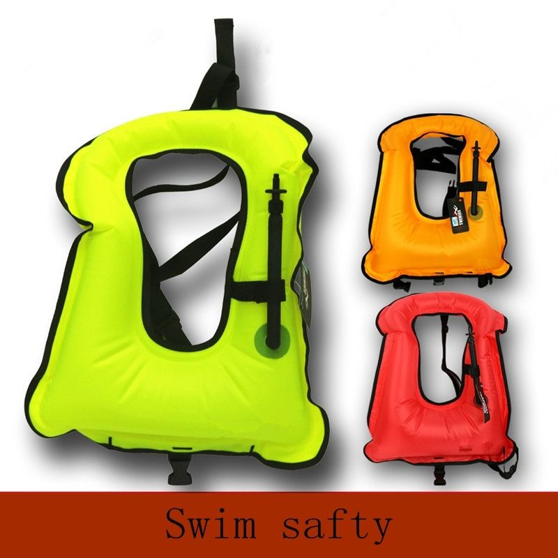 Free size Adult Inflatable Life Jacket Snorkeling Buoyancy Swimming Floating Life Vest