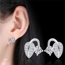 NEHZY Nuovo Orecchini Con Perno delle donne Dei Monili di monili di marca di modo di disegno di personalità dolce lascia gemma orecchini di lusso cubic zirconia