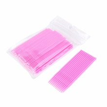 100pcs/lot Durable Micro Disposable Eyelash Extension Individual Applicators Mascara Brush For Women Glue Cleaning Stick