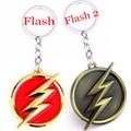 El flash super hero cadena dominante del metal llavero dc justice league superhero comic figura llavero regalo de la joyería del niño