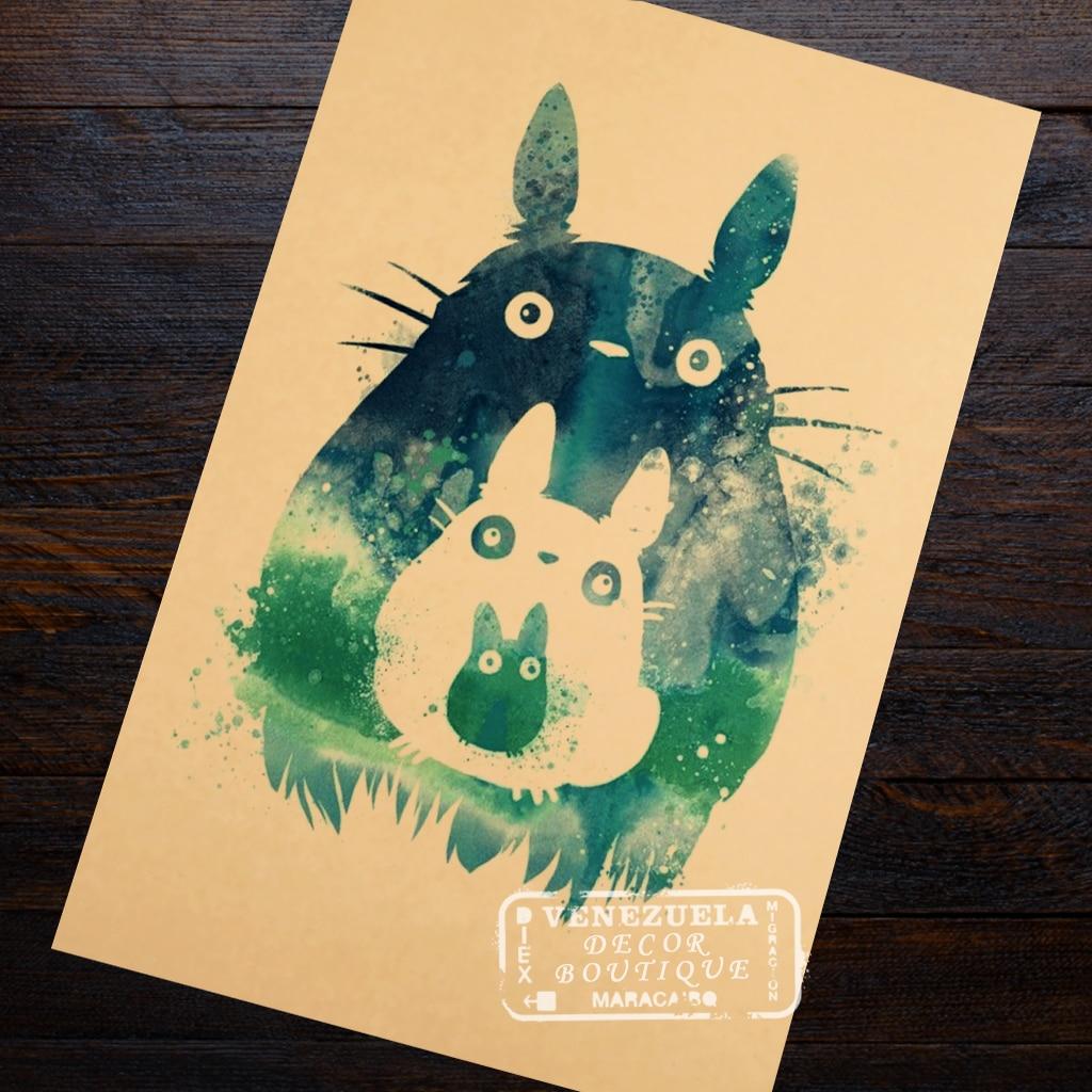DIY Original watercolor My Neighbor Totoro canvas painting wall art ...