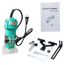 KKmoon 35000r/min Polisher Trim Router Electric Trimmer Angle Grinder with Transparent Base for Woodworking Trimming Slotting