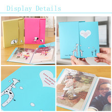 Creative Simple DIY Photo Album Paper Crafts Handmade Baby Child Marriage Albums Sheets For 6 Inch Photo EJ877341
