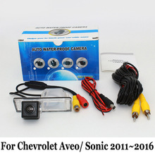 Резервное копирование Камеры Для Chevrolet Aveo T300/Sonic 2011 ~ 2016/Провод или Беспроводной HD Широкоугольный Объектив CCD Ночного Видения Заднего Вида камера