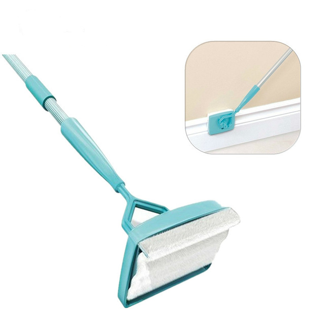 Baseboard Buddy Extendable Wall Cleaner Microfiber Duster 360 Degree Swivel-action Head Home Kitchen Multi-Use Clean Duster