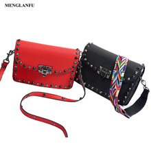 Bag women handbag Fashion Famale Leather Shoulder Bags Small Satchel Bag High Quality Rivet handbags for women Handbag red black